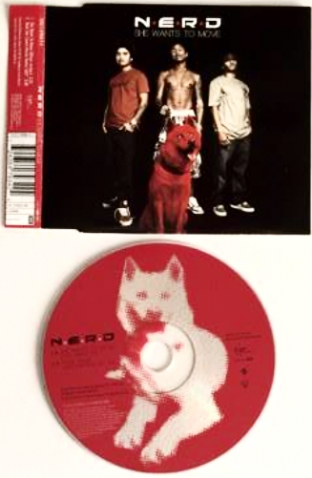 N*E*R*D ‎- She Wants To Move (CD Single) (G/VG+)